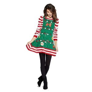 Almost Famous - Ugly Christmas Candy Cane Dress